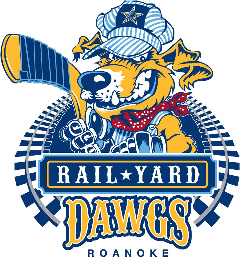 Roanoke Rail Yard Dawgs Logo Primary Logo (2016/17-Pres) -  SportsLogos.Net