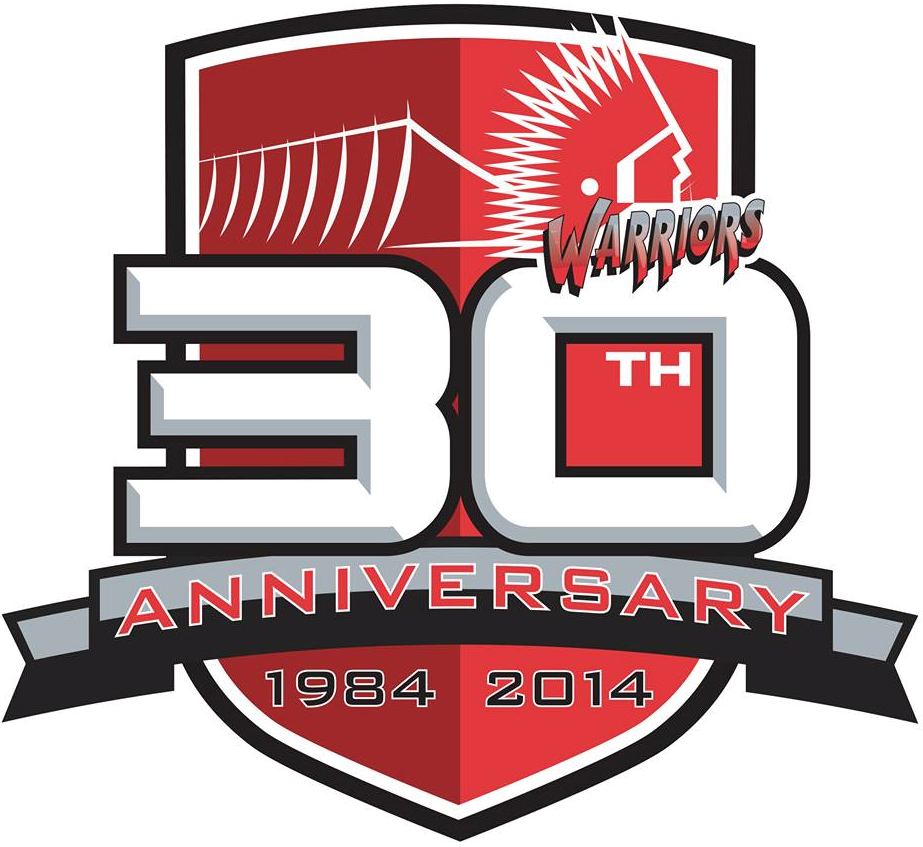 Moose Jaw Warriors Logo Anniversary Logo (2014/15) - 30th Anniversary logo SportsLogos.Net