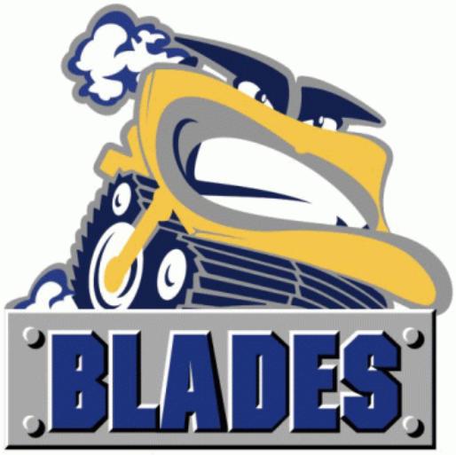 Saskatoon Blades Logo Primary Logo (2000/01-2004/05) -  SportsLogos.Net