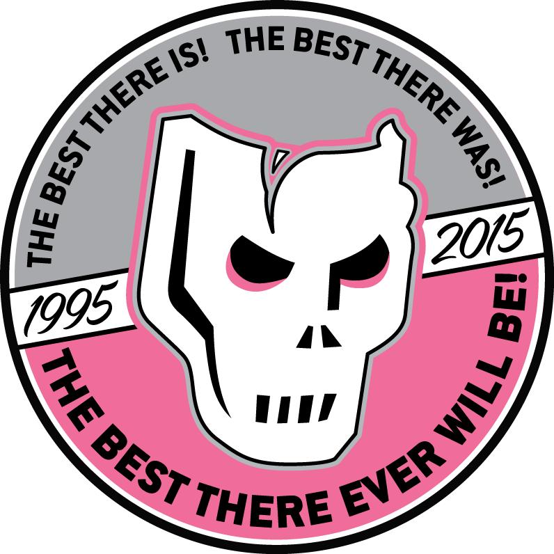 Calgary Hitmen Logo Anniversary Logo (2014/15) - 20th Anniversary logo SportsLogos.Net