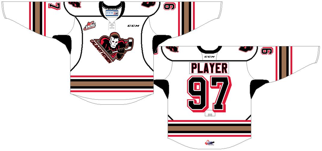 Calgary Hitmen Uniform Home Uniform (2016/17-Pres) -  SportsLogos.Net