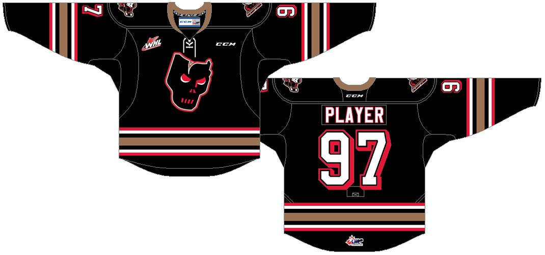 Calgary Hitmen Uniform Road Uniform (2016/17-Pres) -  SportsLogos.Net