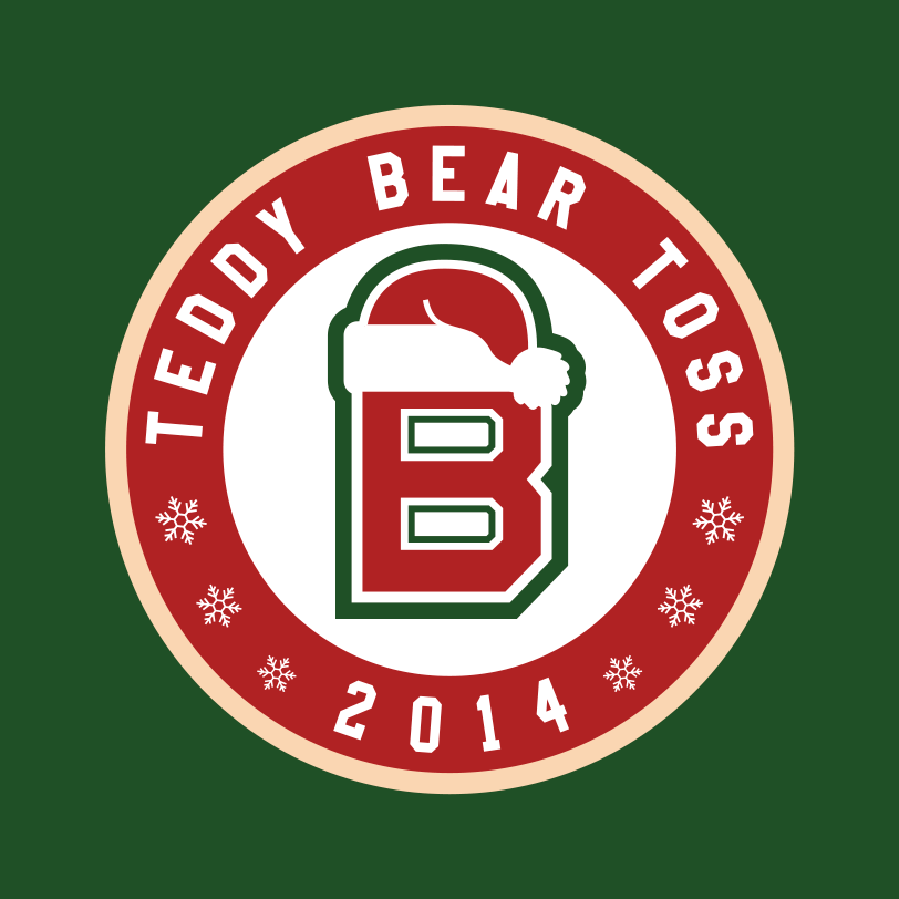 Swift Current Broncos Logo Special Event Logo (2014/15) - Teddy Bear Toss Shoulder Patch logo:Used on December 6th, 2014, as a part of the team's Christmas themed jerseys for Teddy Bear Toss Night. The reindeer is meant as a festive interpretation of the original Broncos logo. SportsLogos.Net