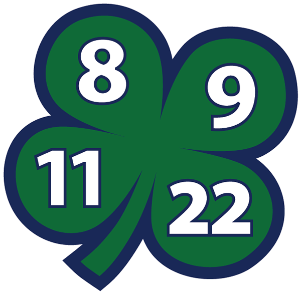 Swift Current Broncos Logo Memorial Logo (2014/15-Pres) - A memorial logo for the four players that were tragically killed in a bus crash enrute to a game in Regina on December 30, 1986. The four players lost in the tragic accident were Trent Kresse, Scott Kruger, Chris Mantyka and Brent Ruff. Their numbers were retired by the team, and an embroidered patch featuring the players retired numbers has been worn by the team on their jerseys ever since. SportsLogos.Net