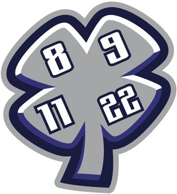 Swift Current Broncos Logo Memorial Logo (2003/04-2013/14) - A memorial logo for the four players that were tragically killed in a bus crash enrute to a game in Regina on December 30, 1986. The four players lost in the tragic accident were Trent Kresse, Scott Kruger, Chris Mantyka and Brent Ruff. Their numbers were retired by the team, and an embroidered patch featuring the players retired numbers has been worn by the team on their jerseys ever since. SportsLogos.Net