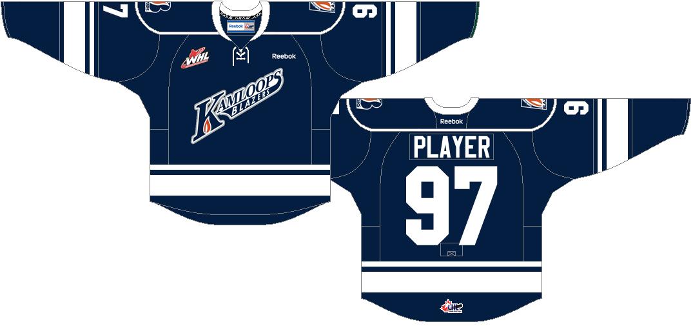 Kamloops Blazers Uniform Alternate Uniform (2013/14-2014/15) -  SportsLogos.Net