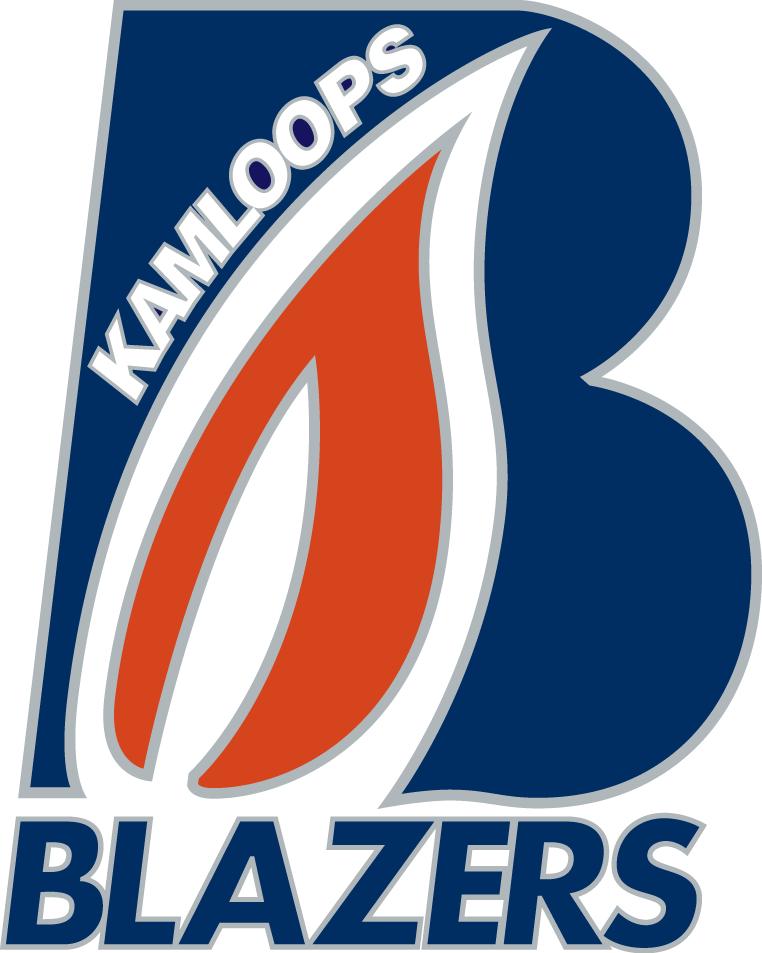 Kamloops Blazers Logo Primary Logo (2005/06-2014/15) - An orange flame in a blue B  SportsLogos.Net