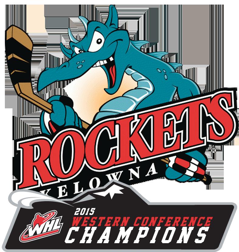 Kelowna Rockets Logo Champion Logo (2014/15) - Western Conference Champions logo SportsLogos.Net