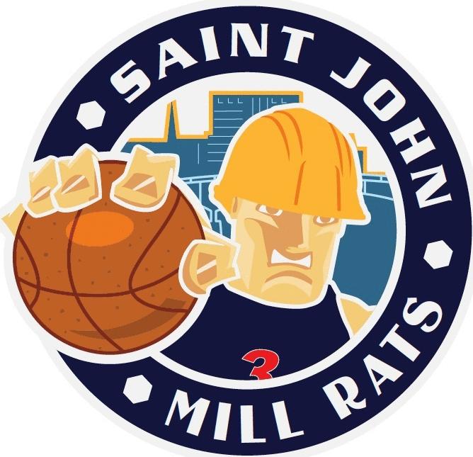 Saint John Mill Rats Logo Primary Logo (2015/16) -  SportsLogos.Net