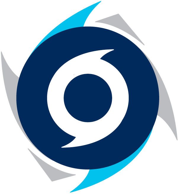 Halifax Hurricanes Logo Secondary Logo (2015/16-2016/17) - A double blue and silver top-down view of a hurricane SportsLogos.Net