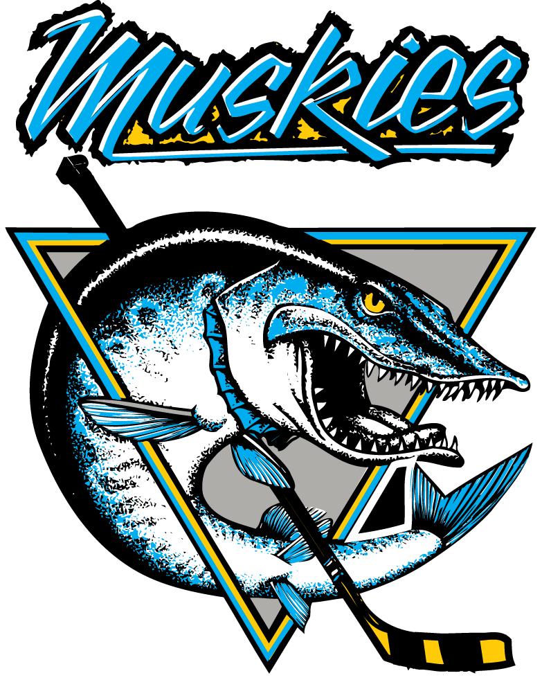 Lindsay Muskies Logo Primary Logo (2006/07-Pres) -  SportsLogos.Net