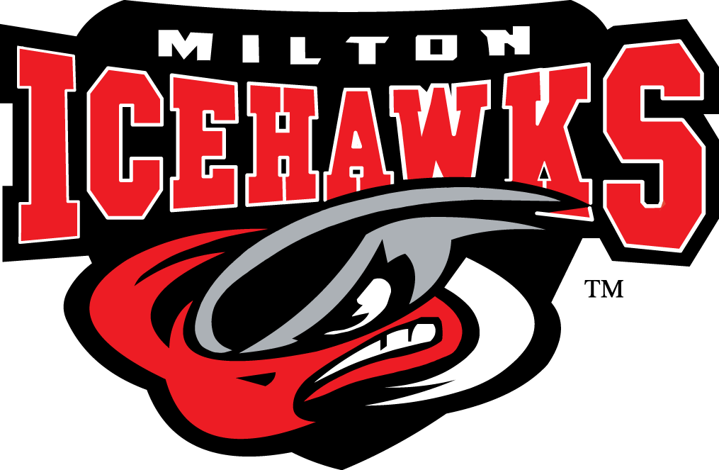 Milton Icehawks Logo Primary Logo (2003/04-Pres) -  SportsLogos.Net