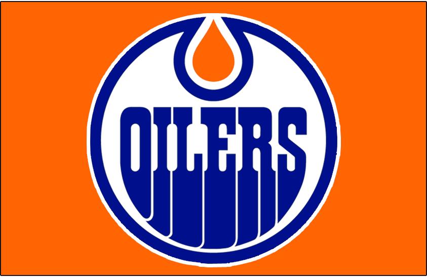 Edmonton Oilers Logo Jersey Logo (1973/74) - Worn on front of the Edmonton Oilers road orange jersey in 1973-74 SportsLogos.Net