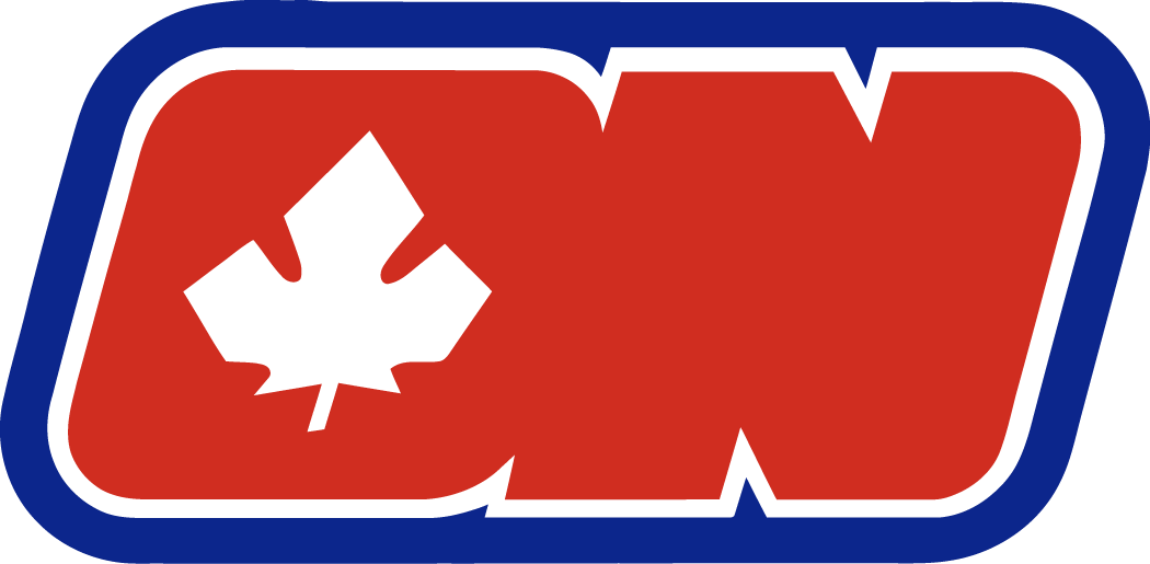 Ottawa Nationals Logo Primary Logo (1972/73) - Red ON with leaf in O SportsLogos.Net