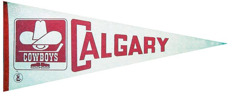 Calgary Cowboys Pennant Pennant (1975/76-1976/77) - Calgary Cowboys WHA pennant SportsLogos.Net