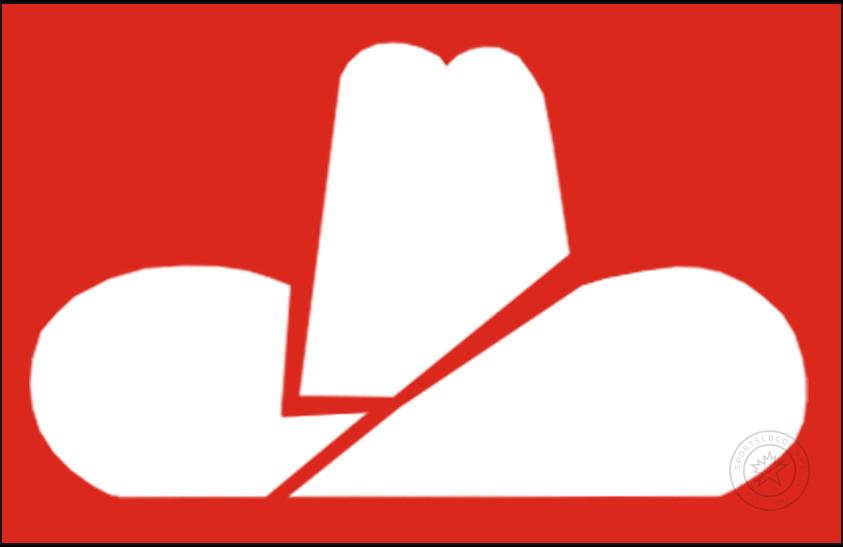 Calgary Cowboys Logo Jersey Logo (1975/76-1976/77) - A white cowboy hat on a red jersey, worn on the Calgary Cowboys road uniform SportsLogos.Net