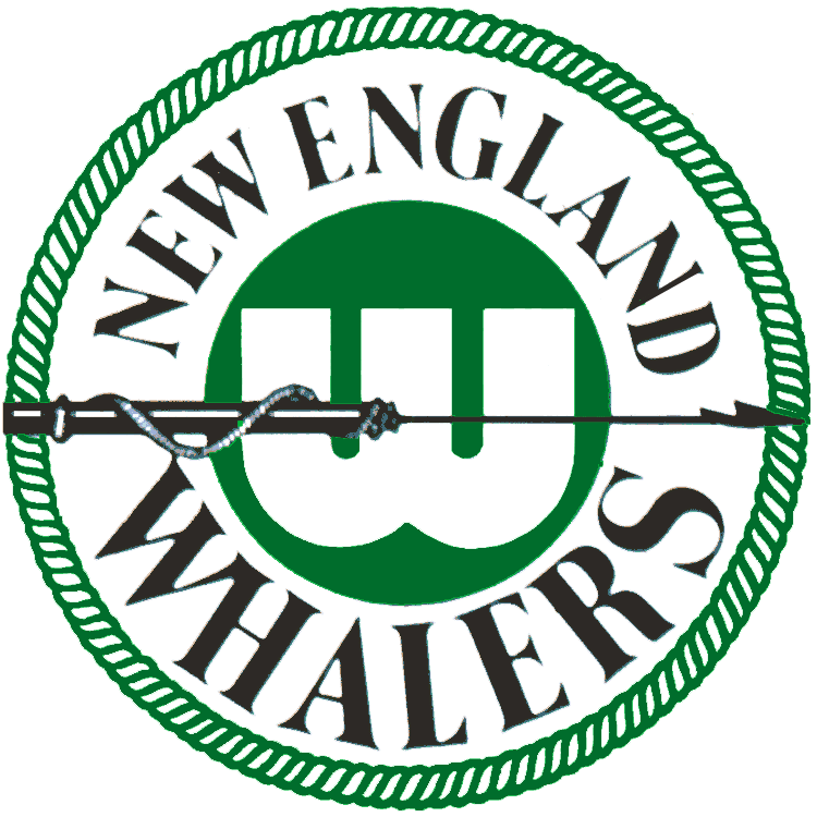 New England Whalers Logo Primary Logo (1972/73-1978/79) - A harpoon going through a white W on a green circle SportsLogos.Net