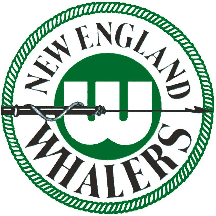 New England Whalers Logo Primary Logo (1972/73-1978/79) - A harpoon going through a white W on a green circle SportsLogos.Net