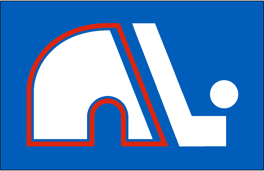 Quebec Nordiques Logo Jersey Logo (1975/76-1978/79) - Jersey crest worn on the road jersey from 1975-76 to 1978-79 season in the WHA and during their first NHL season. SportsLogos.Net
