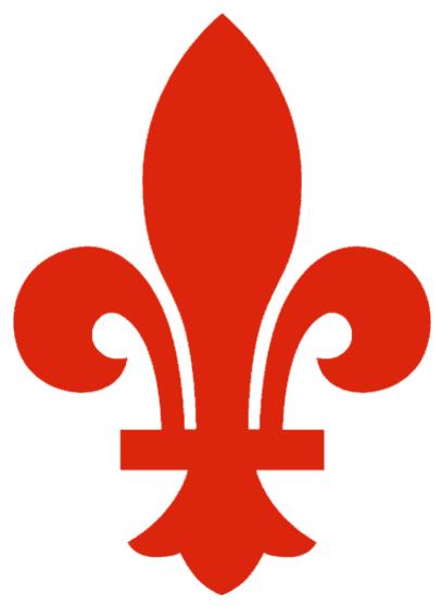 Quebec Nordiques Logo Alternate Logo (1974/75) - Red fleur-de-lis, worn on shoulder of Quebec Nordiques road jersey during the 1974-75 season SportsLogos.Net