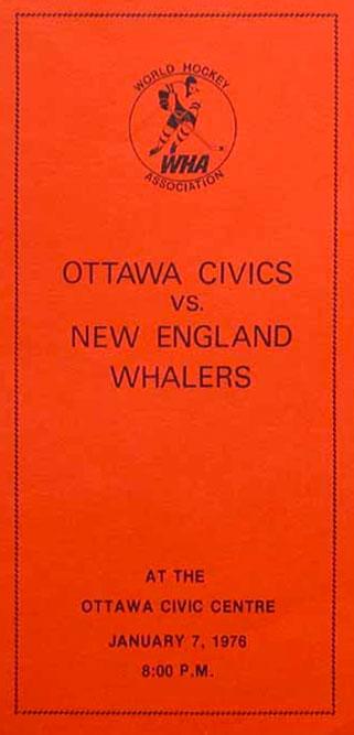 Ottawa Civics Program Program (1975/76) - Program from the first home game in Ottawa Civics history - January 7, 1976 SportsLogos.Net