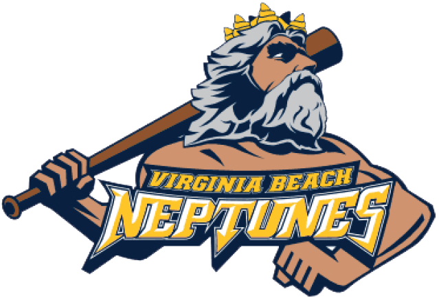 Virginia Beach Neptunes Logo Primary Logo (2018) - This team has yet to play a game, they are still officially listed as a proposed franchise in the Atlantic League. Originally slated to begin in 2015 the team has pushed back their opening season numerous times since unveiling their logo in 2014. SportsLogos.Net