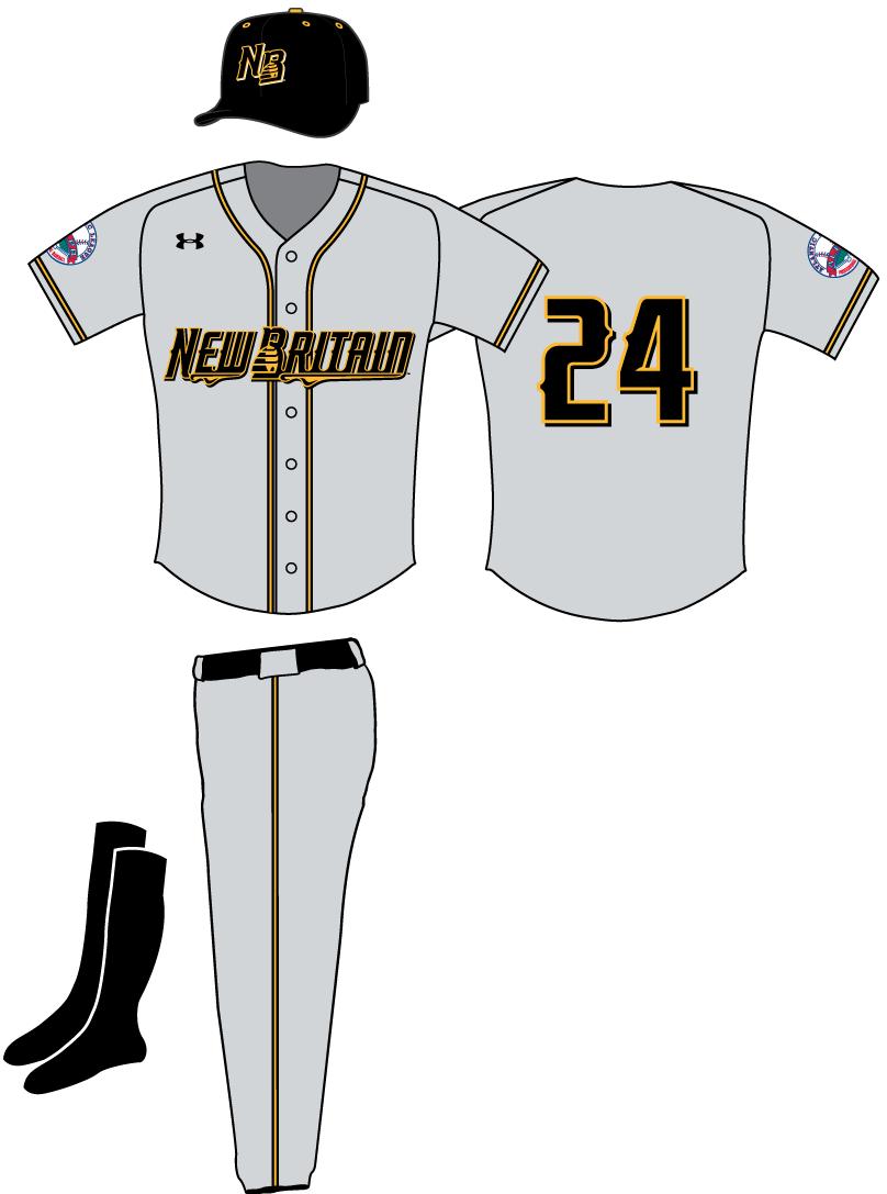 New Britain Bees Uniform Road Uniform (2016-Pres) -  SportsLogos.Net