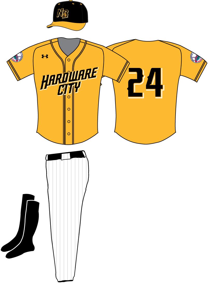 New Britain Bees Uniform Alternate Uniform (2016-Pres) -  SportsLogos.Net
