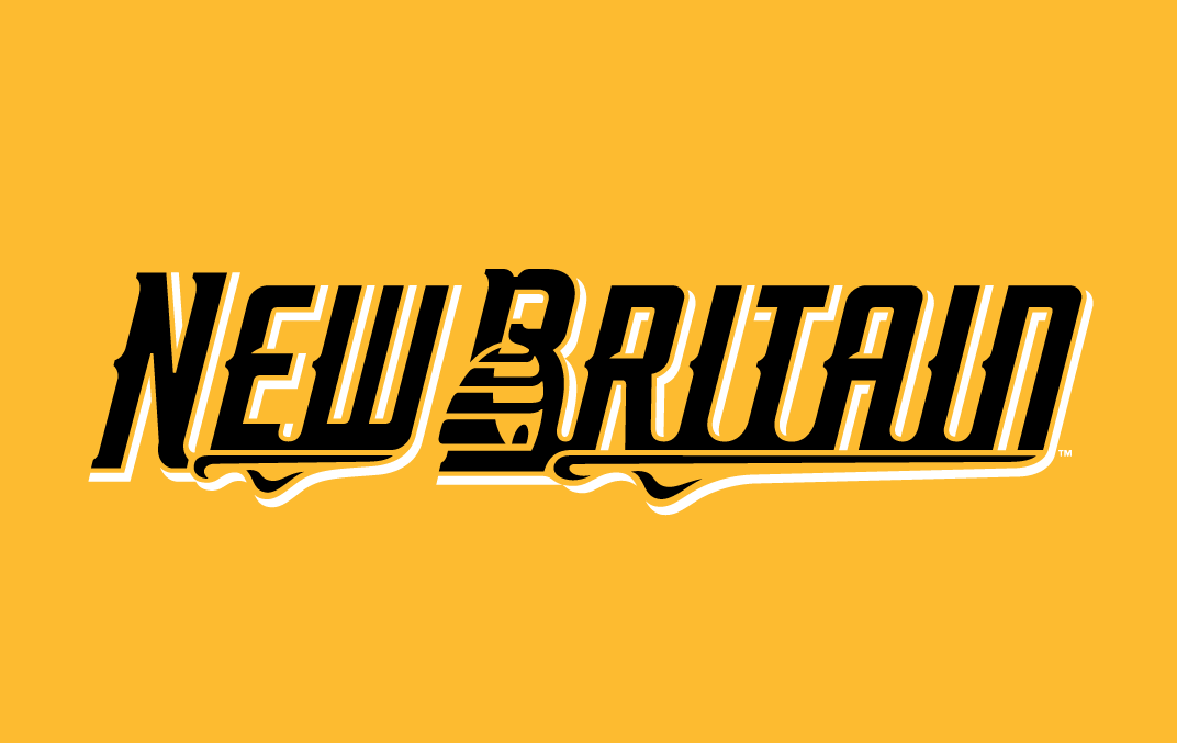 New Britain Bees Logo Wordmark Logo (2016-Pres) -  SportsLogos.Net