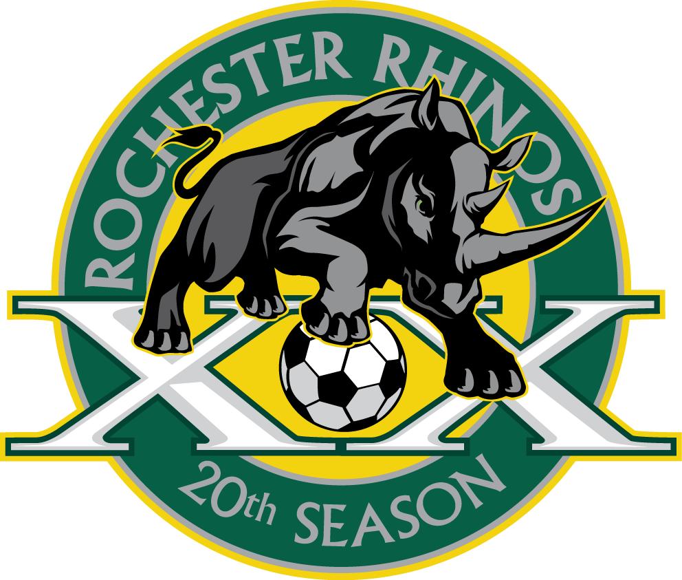 Rochester Rhinos Logo Anniversary Logo (2015) -  SportsLogos.Net