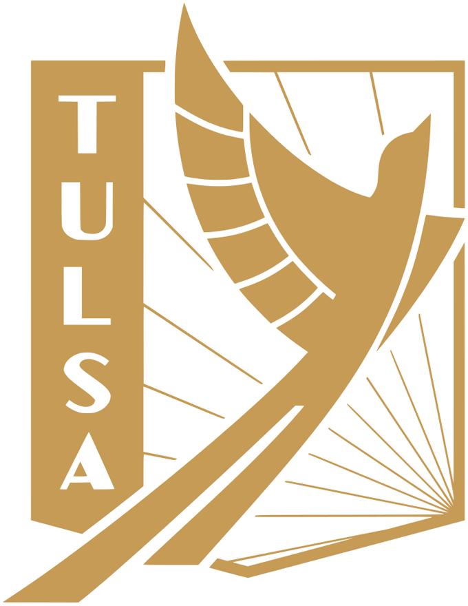 FC Tulsa  Logo Primary Logo (2020-Pres) - A golden bird flying skyward inside a gold shield SportsLogos.Net