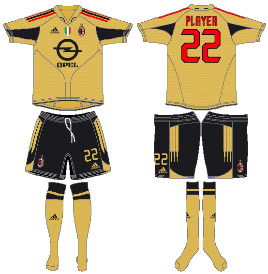 AC Milan Uniform Alternate Uniform (2004-2005) -  SportsLogos.Net