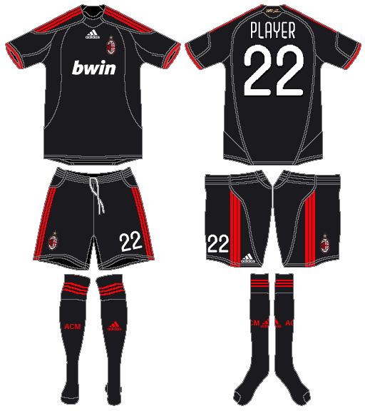 AC Milan Uniform Alternate Uniform (2009-2010) -  SportsLogos.Net