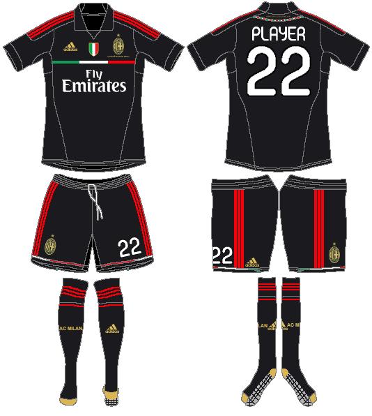 AC Milan Uniform Alternate Uniform (2011-2012) -  SportsLogos.Net