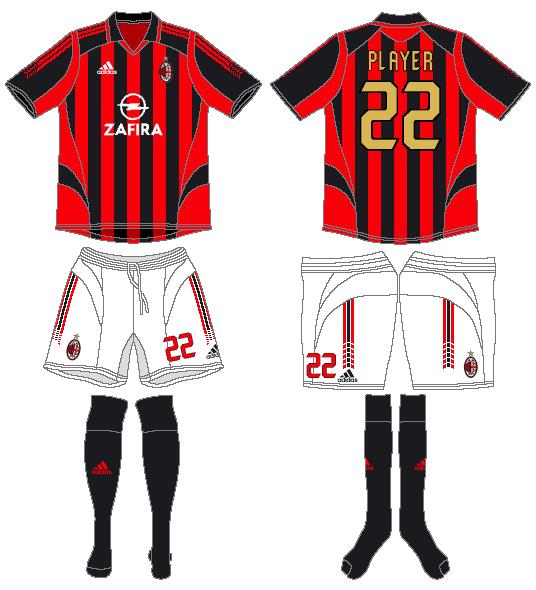 AC Milan Uniform Home Uniform (2005-2006) -  SportsLogos.Net