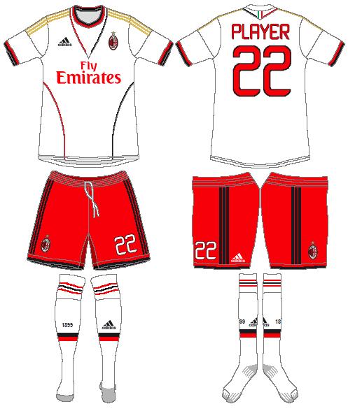 AC Milan Uniform Road Uniform (2013-2014) -  SportsLogos.Net