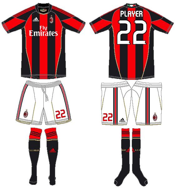 AC Milan Uniform Home Uniform (2010-2011) -  SportsLogos.Net