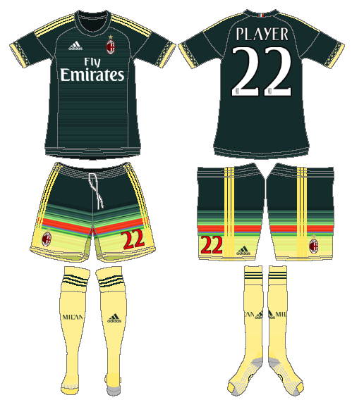 AC Milan Uniform Alternate Uniform (2015-2016) -  SportsLogos.Net