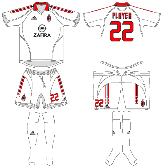 AC Milan Uniform Road Uniform (2005-2006) -  SportsLogos.Net