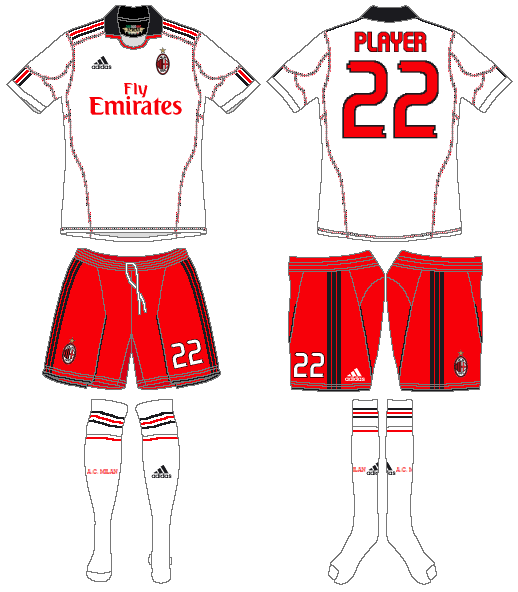 AC Milan Uniform Road Uniform (2010-2011) -  SportsLogos.Net