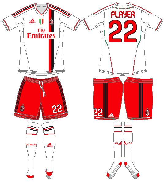 AC Milan Uniform Road Uniform (2011-2012) -  SportsLogos.Net