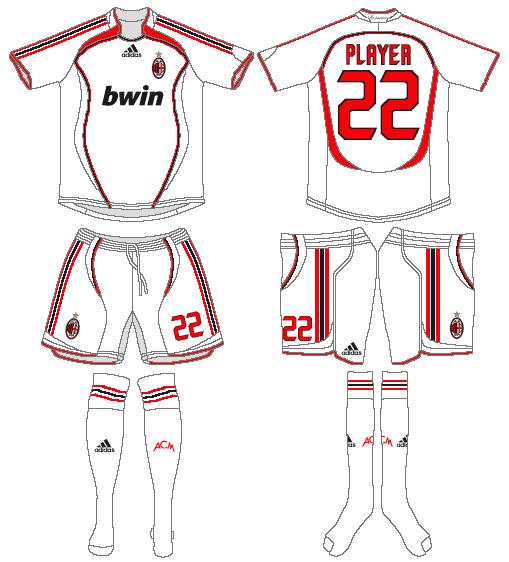 AC Milan Uniform Road Uniform (2006-2007) -  SportsLogos.Net