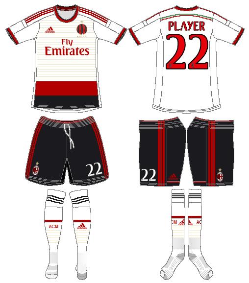 AC Milan Uniform Road Uniform (2014-2015) -  SportsLogos.Net