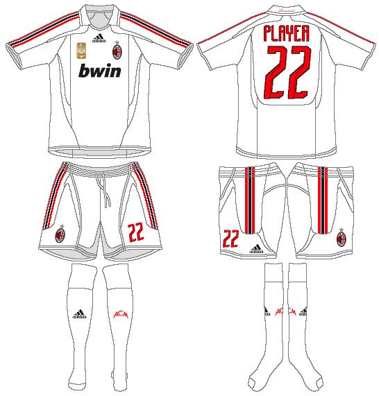AC Milan Uniform Road Uniform (2007-2008) -  SportsLogos.Net