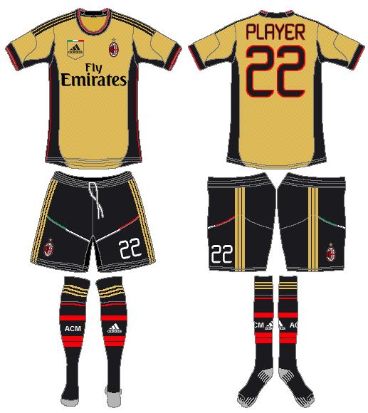 AC Milan Uniform Alternate Uniform (2013-2014) -  SportsLogos.Net