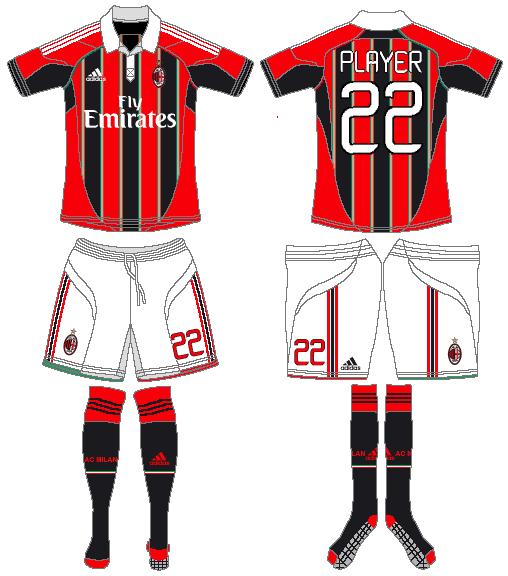 AC Milan Uniform Home Uniform (2012-2013) -  SportsLogos.Net