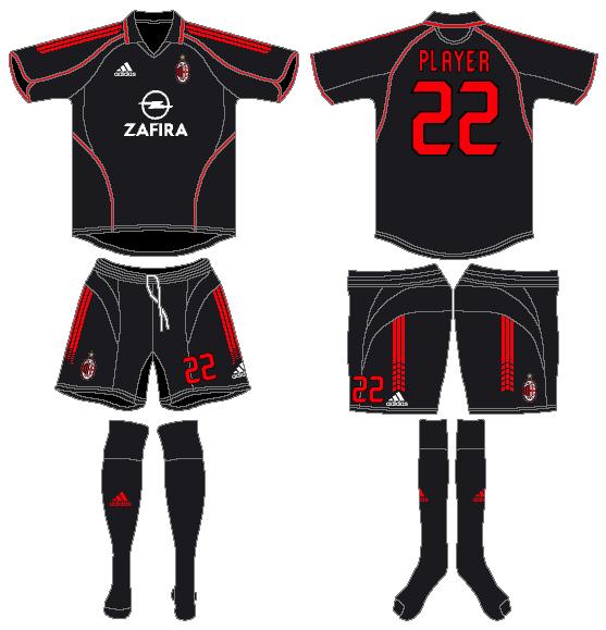 AC Milan Uniform Alternate Uniform (2005-2006) -  SportsLogos.Net