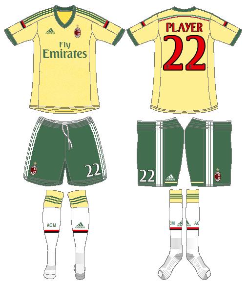 AC Milan Uniform Alternate Uniform (2014-2015) -  SportsLogos.Net