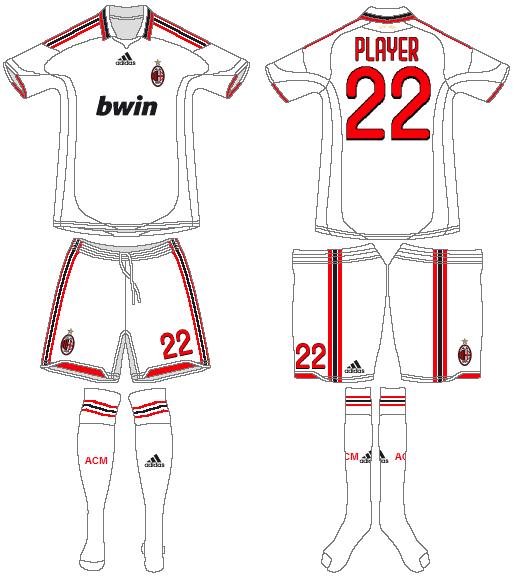 AC Milan Uniform Road Uniform (2009-2010) -  SportsLogos.Net