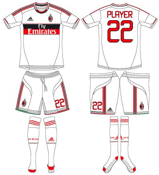 AC Milan Uniform Road Uniform (2012-2013) -  SportsLogos.Net
